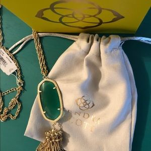 Kendra Scott Rayne Necklace in Emerald NWT